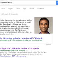 Who invented email? Shiva Ayyadurai or Ray Tomlinson