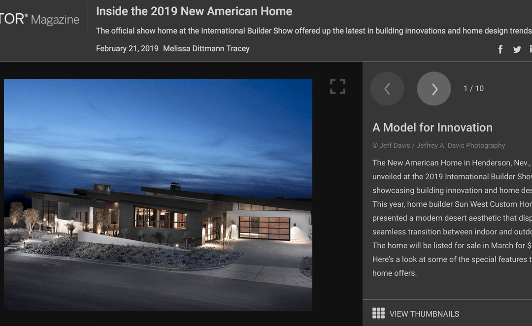 Take a Peek Inside the 2019 New American Home