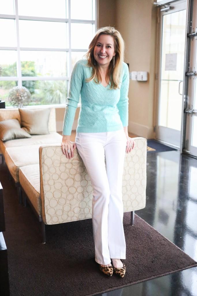 tina adams white jeans