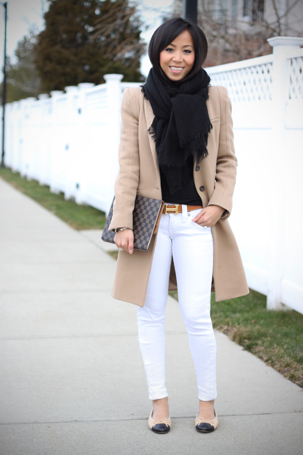 white jeans winter