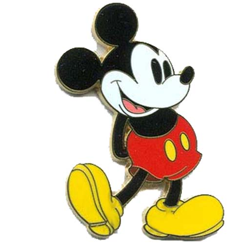 Disney Mickey Pin Classic Mickey Mouse Standing