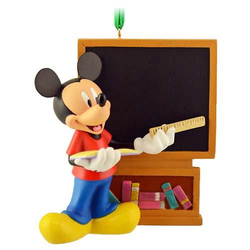 Disney Christmas Figurine Ornament Teacher Mickey Mouse