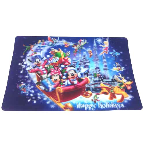 Your WDW Store Disney Placemat Happy Holidays Sleigh