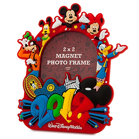 Disney Photo Frame Magnet 2012 Logo Mickey And Pals