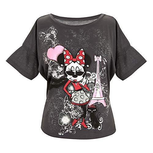Disney Ladies Shirt Ooh La La Eiffel Tower Dolman