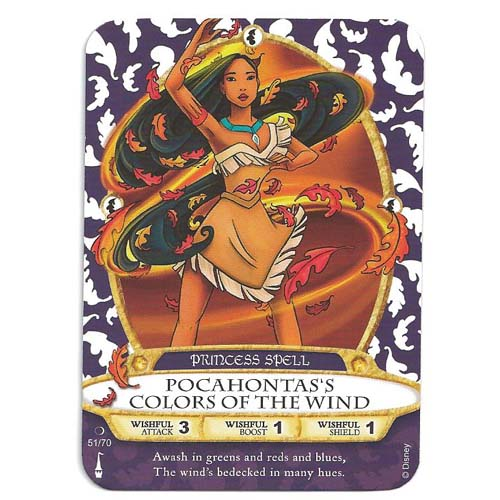 Disney Sorcerers Of Magic Kingdom Cards Pocahontas