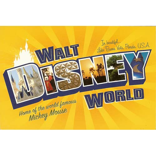 Disney Post Card Walt Disney World Logo