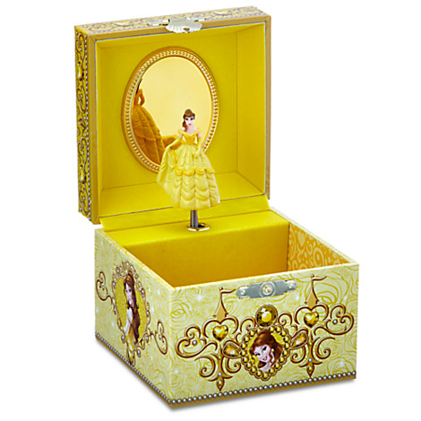 Disney Trinket Box Belle Musical Jewelry Box Signature