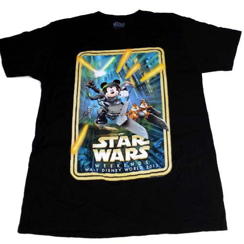 Disney Adult Shirt Star Wars Weekends 2013 Logo