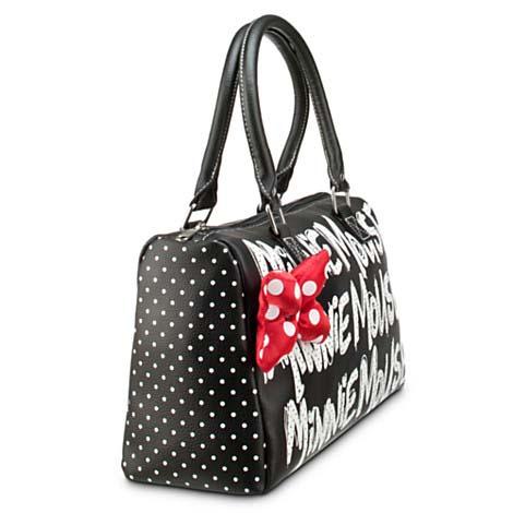 Disney Bag Purse - Minnie Mouse Black Polka Dot Purse