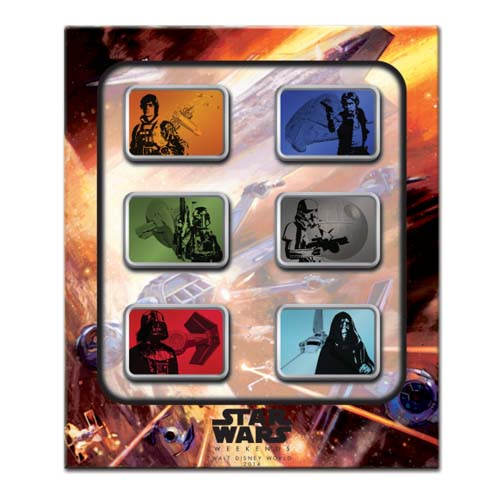 Disney Star Wars Weekends Pin Set 2014 Spaceships Boxed Set