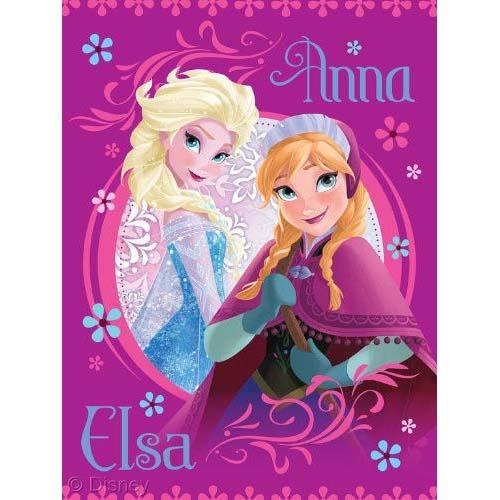 Disney FROZEN Throw Blanket Anna And Elsa