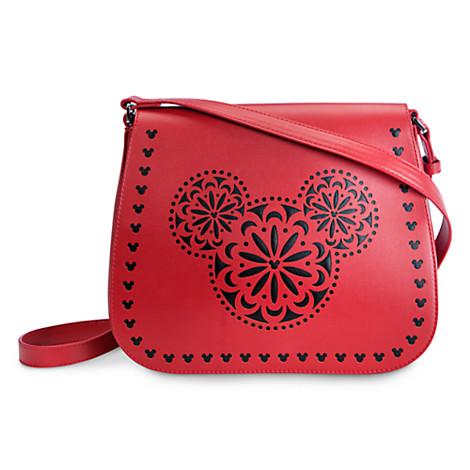 Disney Vera Bradley Bag Laser Cut Mickey Crossbody Red