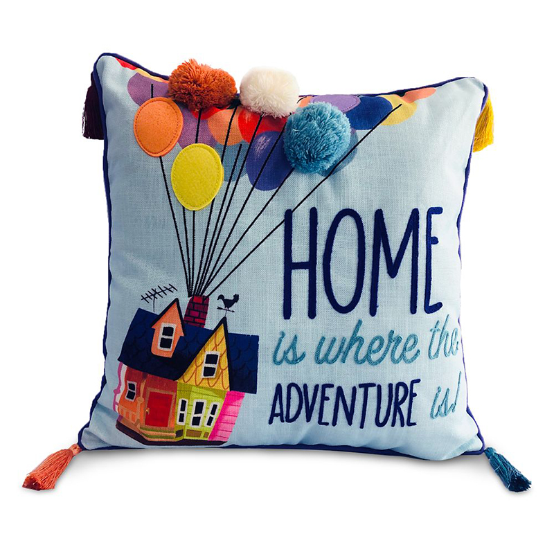 disney throw pillow pixar up house home is where the adventure is