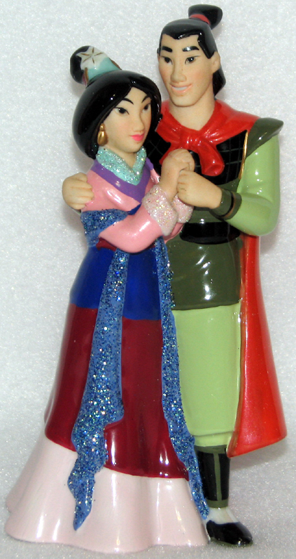 Disney Cake Topper Porcelain Figure Mulan And Shang
