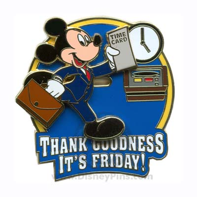 Disney Mickey Mouse Pin Thank Goodness Its Friday