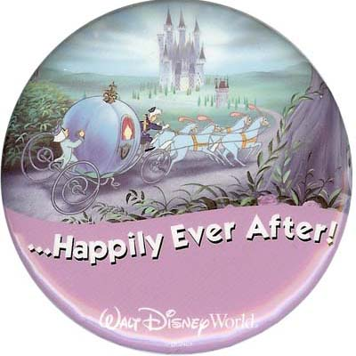Disney Souvenir Button Cinderella Happily Ever After