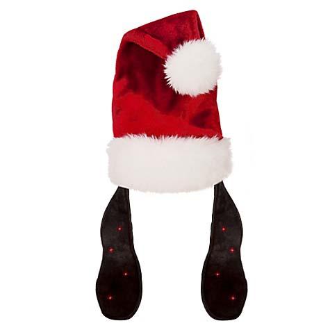 Disney Santa Christmas Holiday Hat Goofy Light Up Ears