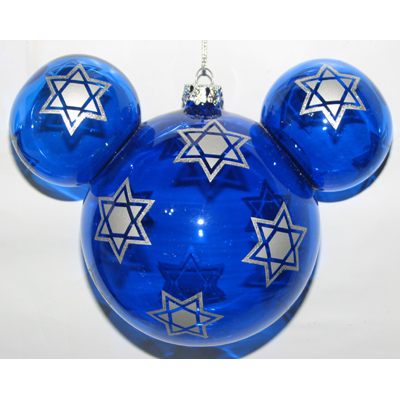 Your WDW Store Disney Christmas Holiday Ornament Mickey Mouse Ears Hanukkah Star