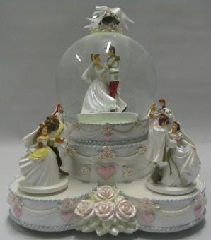 Disney Snow Globe Princess Wedding Cake Animated Musical
