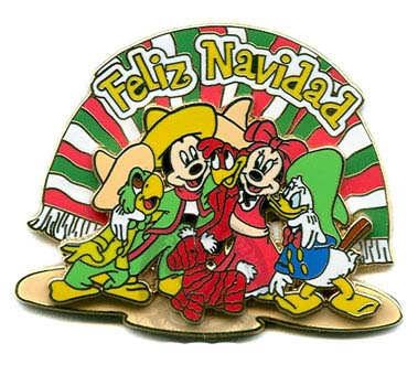 Your WDW Store Disney Christmas Pin Feliz Navidad