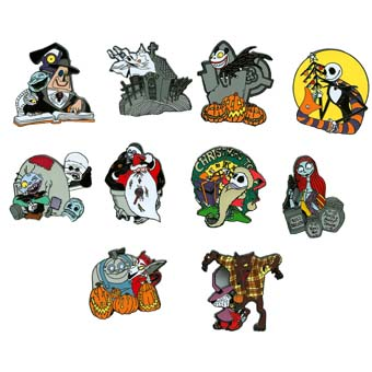 Your WDW Store Disney Mystery Pin Set Nightmare Before