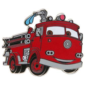 Your WDW Store Disney Cars Pin Red The Fire Engine
