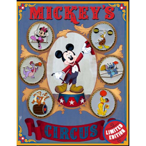 Disney Mickeys Circus Boxed Pin Set Circus Performers