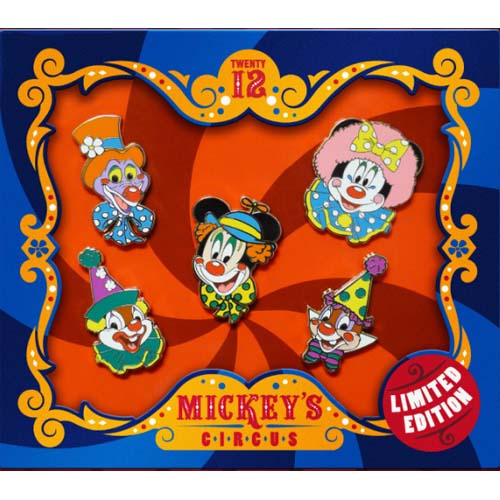 Disney Mickeys Circus Boxed Pin Set Circus Clowns