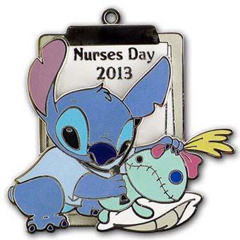 Your WDW Store Disney Nurses Day Pin 2013 Stitch