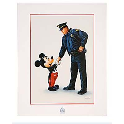 Your WDW Store Disney Petite Poster Policeman And