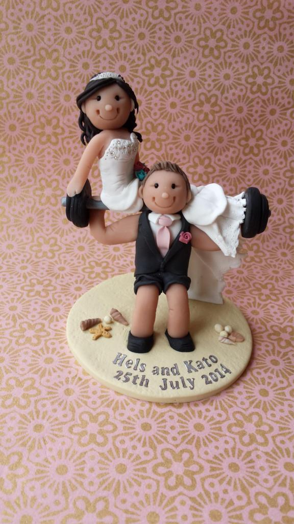 Weightlifting Cake topper