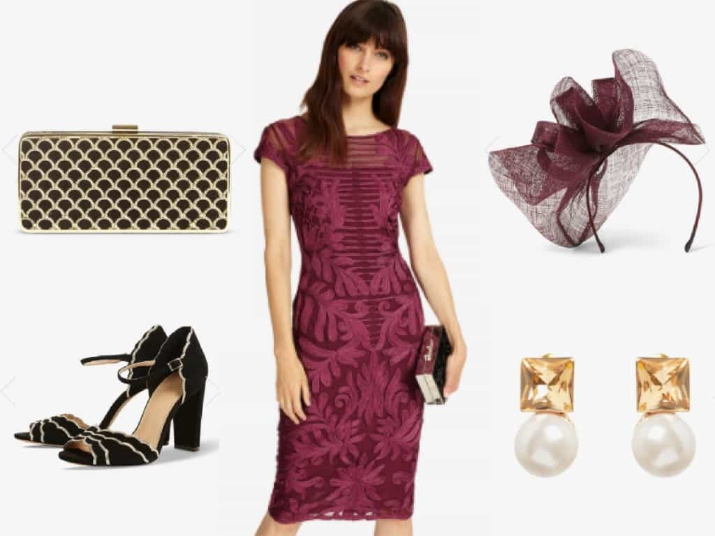 burgundy phase eight outfit