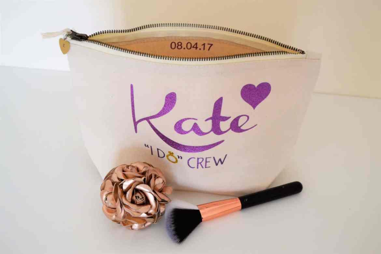 bridesmaid make up bag