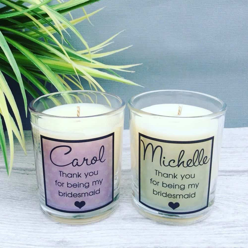 personalised thank you candles