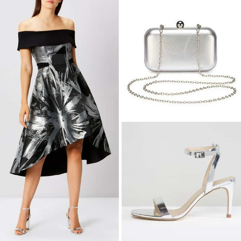 silver occasion outfit