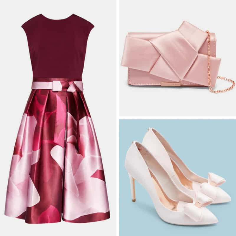 pink ted baker occasion outfit