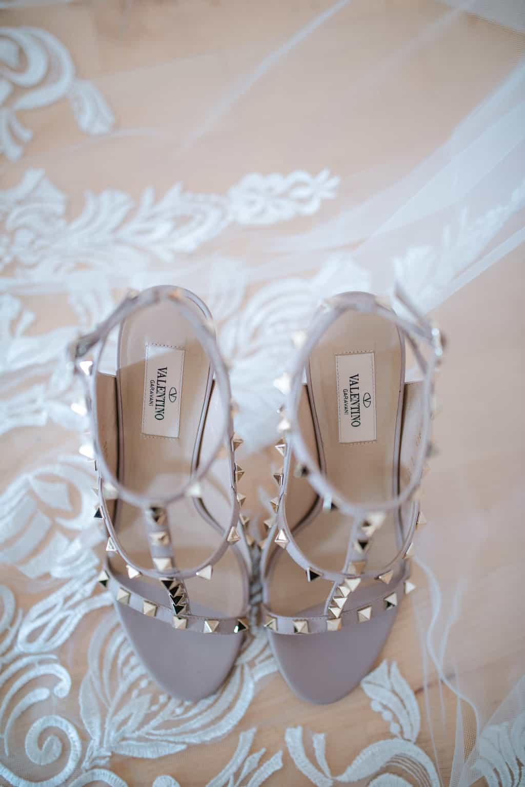 real wedding valentinos shoes