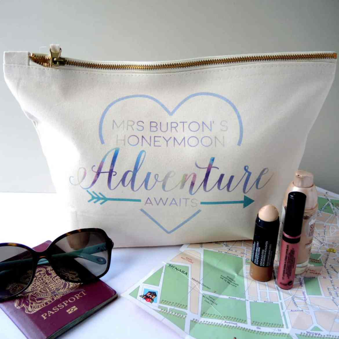 honeymoon make up bag