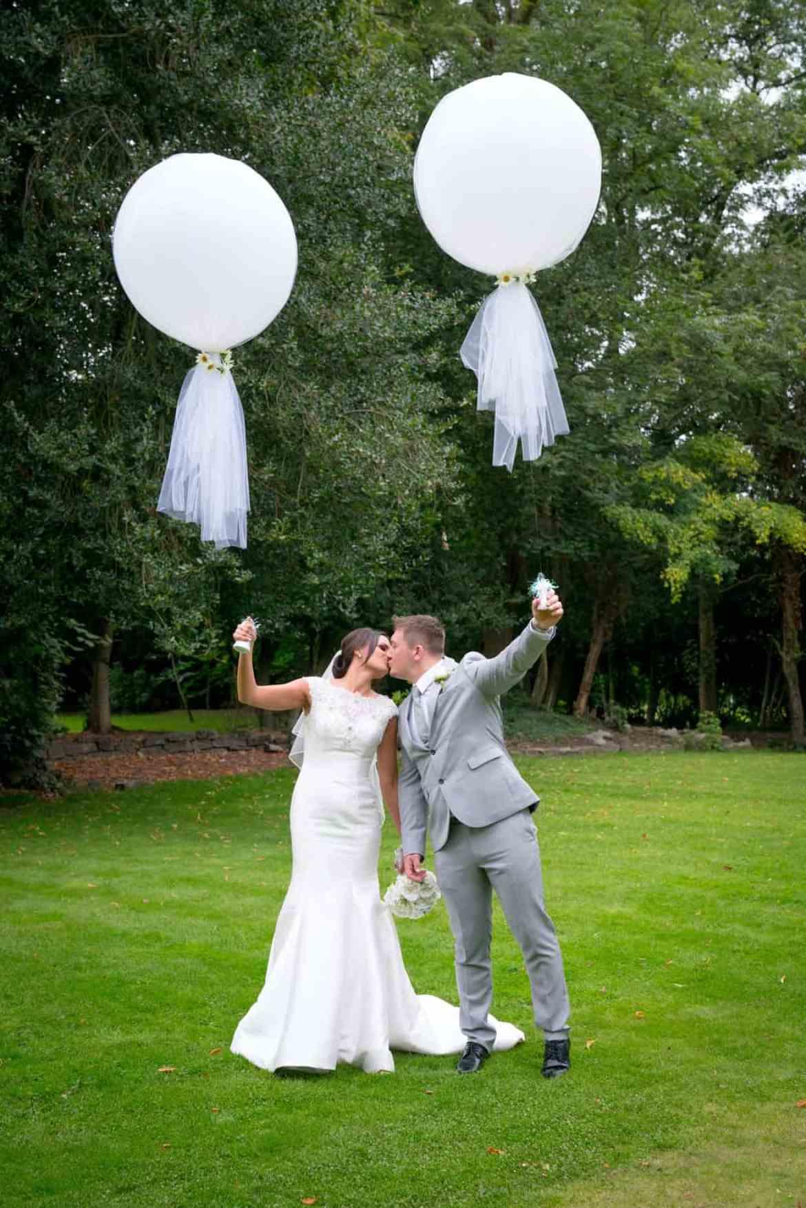 real wedding balloons