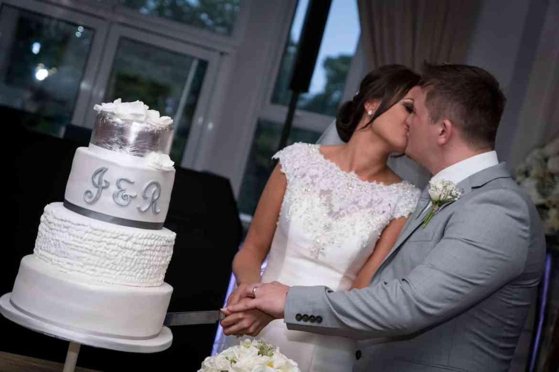 real wedding cake cut