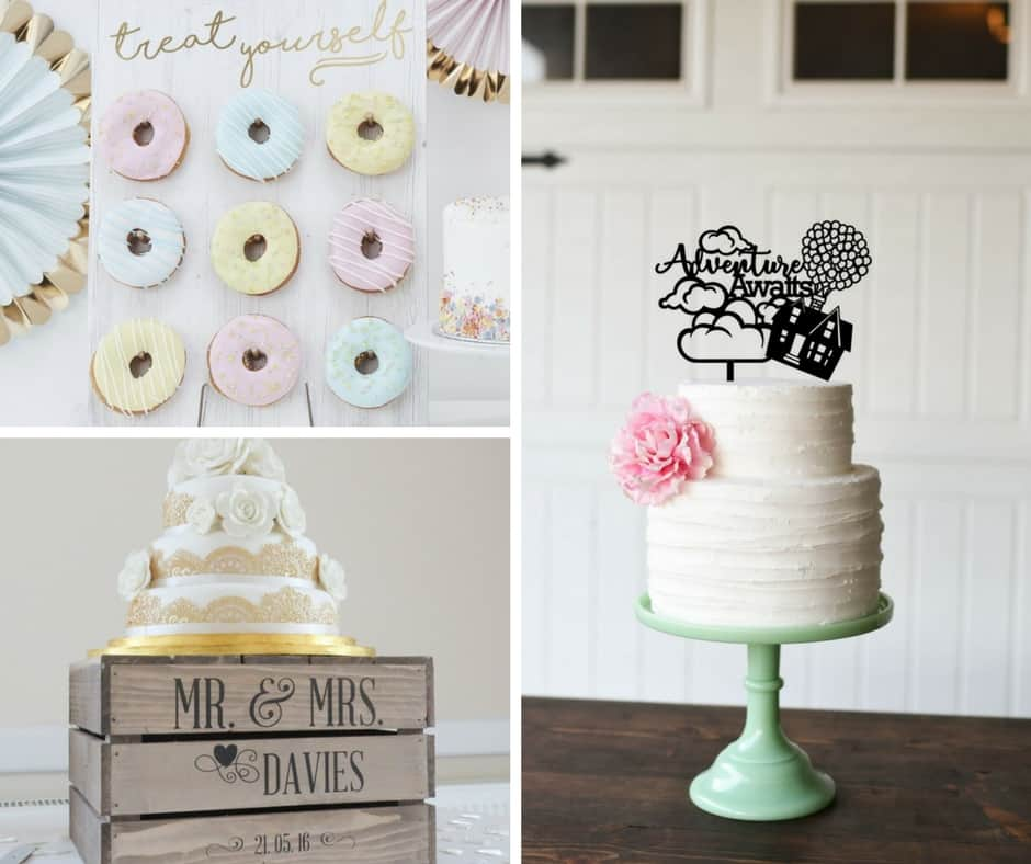 cake decor wedding etsy blog