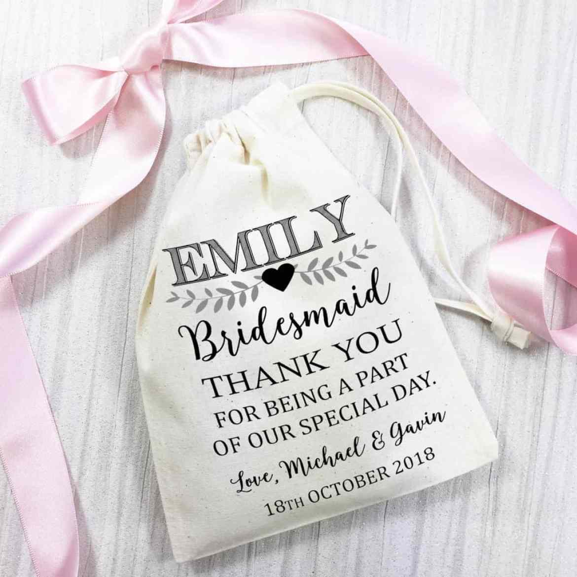 bridesmaid thank you