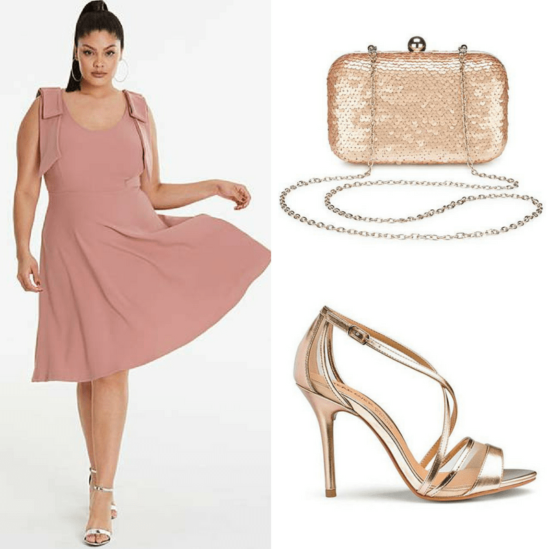 plus size wedding guest outfit