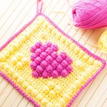 Bobble Heart Potholder – Free Crochet Pattern
