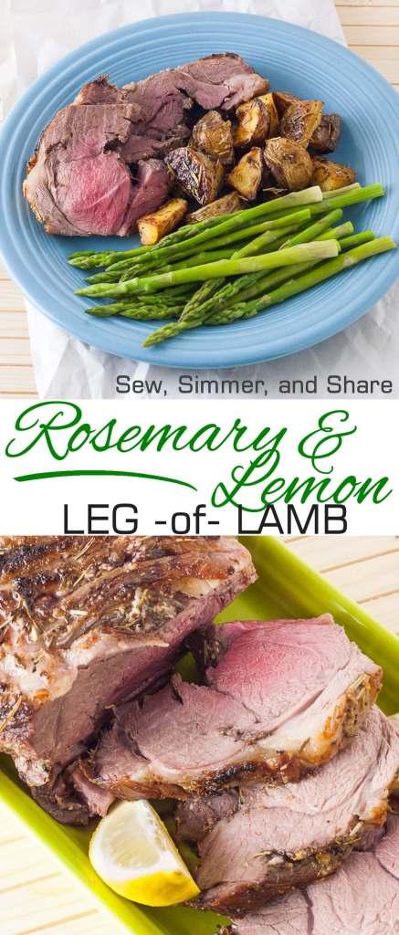Rosemary & Lemon Leg of Lamb | YouShouldCraft.com