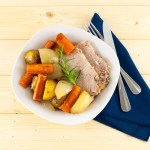 Slowcooker Pork Loin and Roasted Vegetables