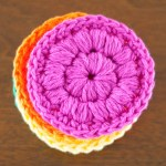 Crochet Face Scrubbies + How to Puff Stitch