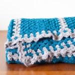 Granny Square Contrast Blanket