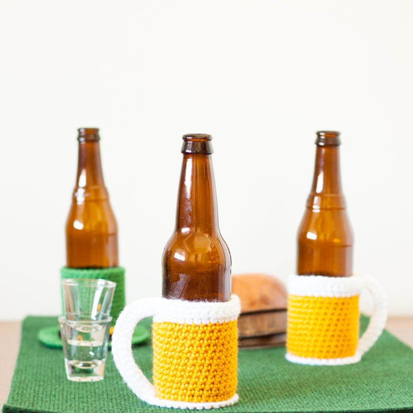 Beer Mug Bottle Cozy – Free Crochet Pattern